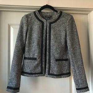 EUC Ann Taylor Tweed Jacket Blazer Multicolor 00